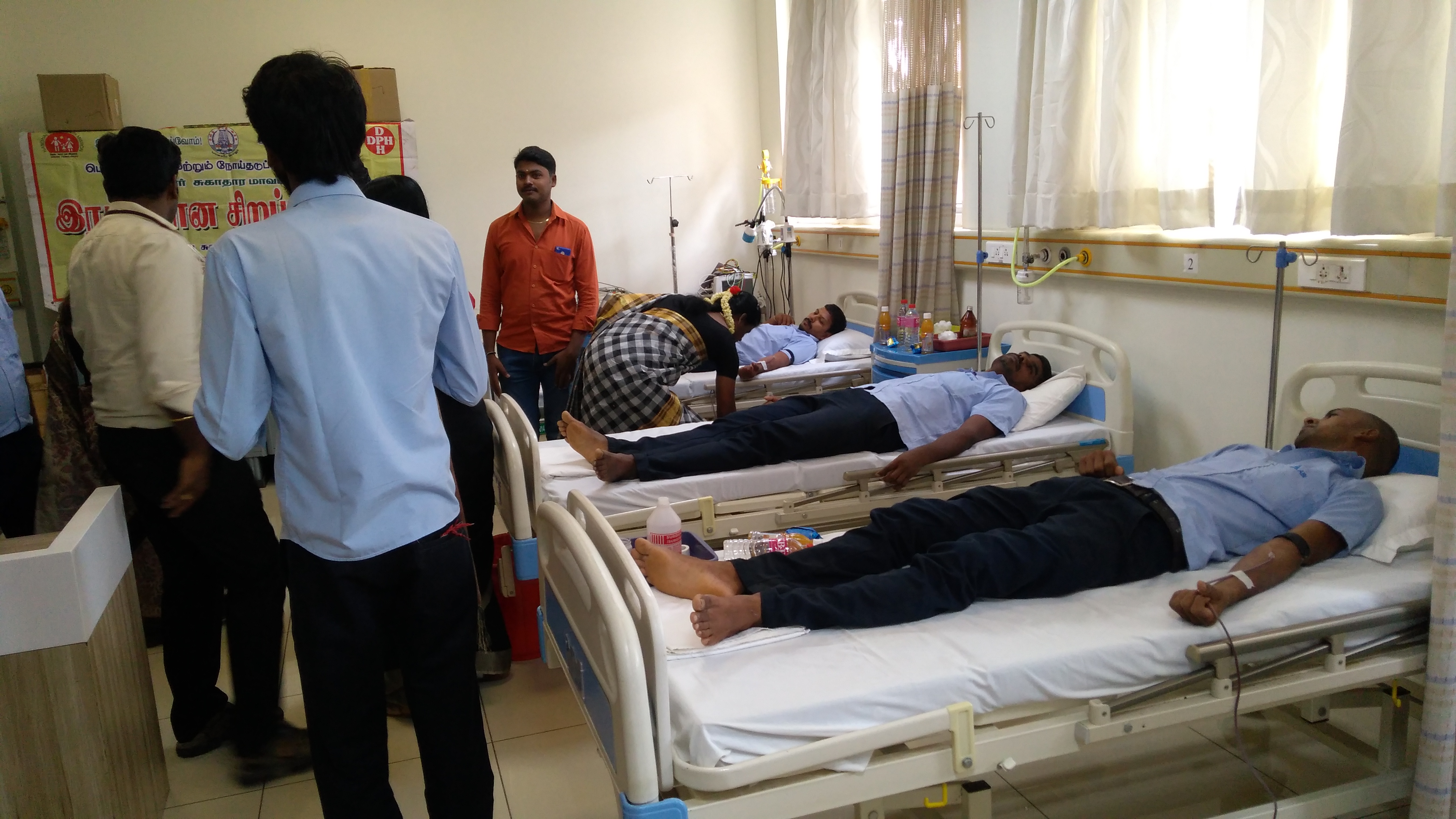 Blood Donation Camp in Hospital